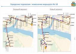 Изменение маршрута №18