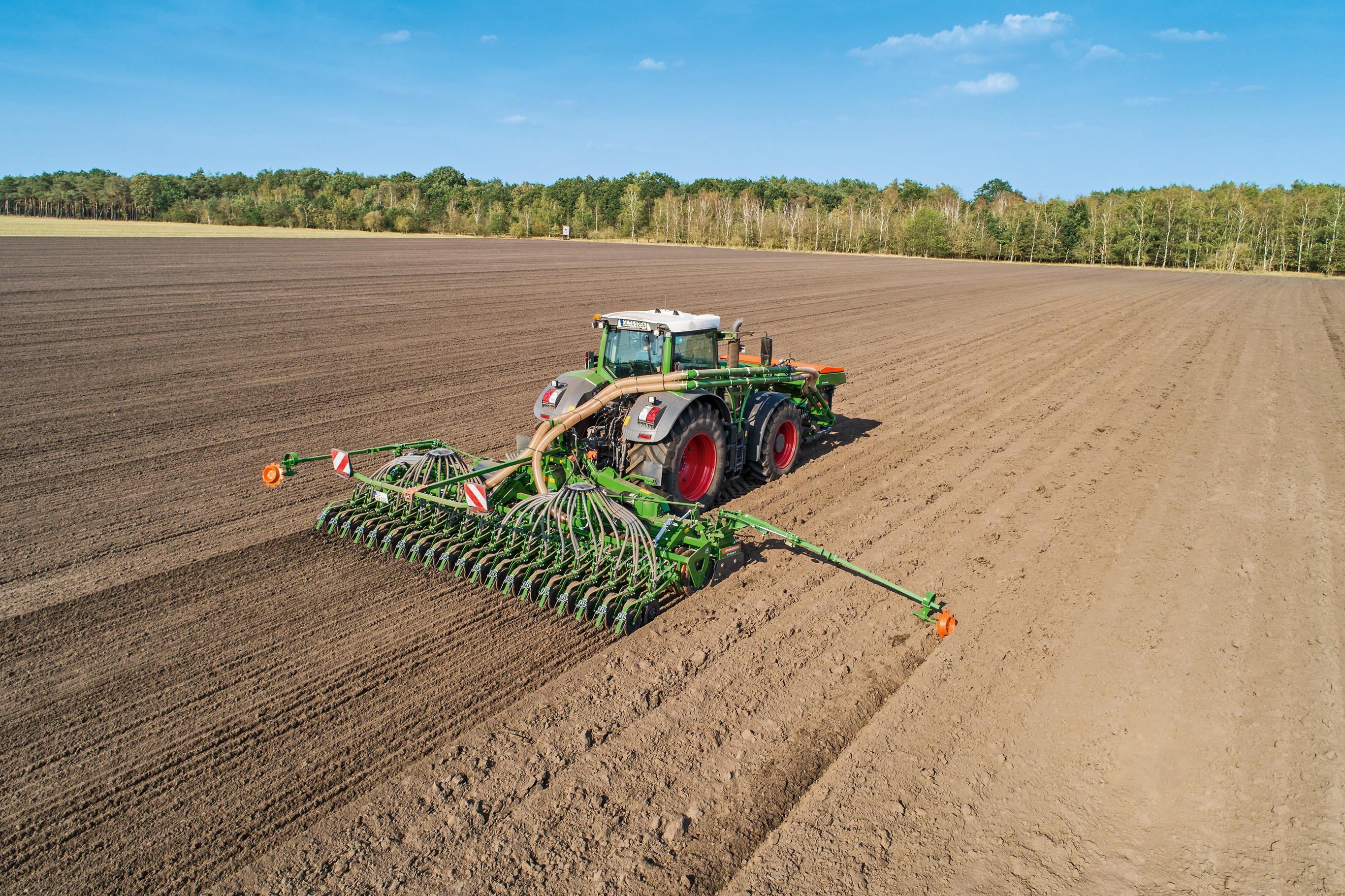 На полях растет пшеница, ячмень, овес и прочие зерновые