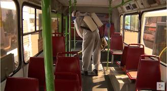 Обработка автобусов паром не прекращалась с начала пандемии