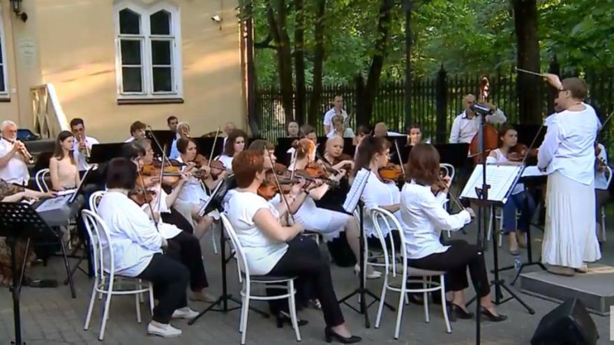 В Череповце под открытым небом прошёл концерт симфонического оркестра