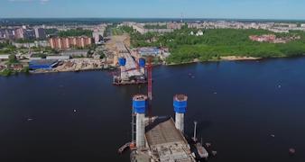 Архангельский мост в Череповце готов на 65 процентов
