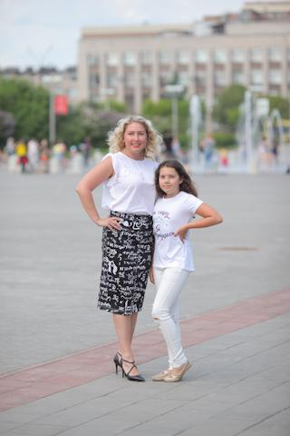 Людмила Миронова с дочерью