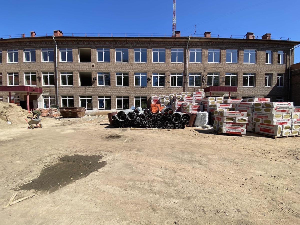 Ремонт в школе № 16  в Череповце выполнен на 30%