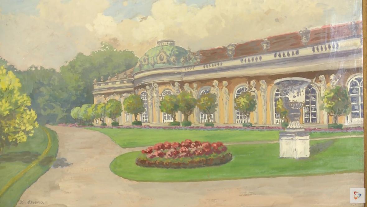 Эпоха рококо для посетителей усадьбы Гальских начинается с дворца Сан-Суси