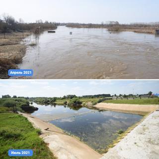 Уровень воды ежедневно опускается в среднем на 5 сантиметров