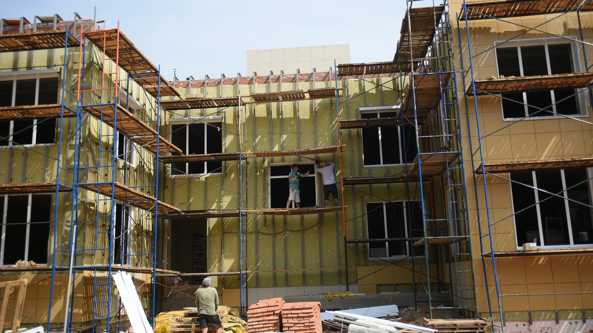 Дошкольное учреждение будет состоять из двух блоков, связанных между собой наземным переходом