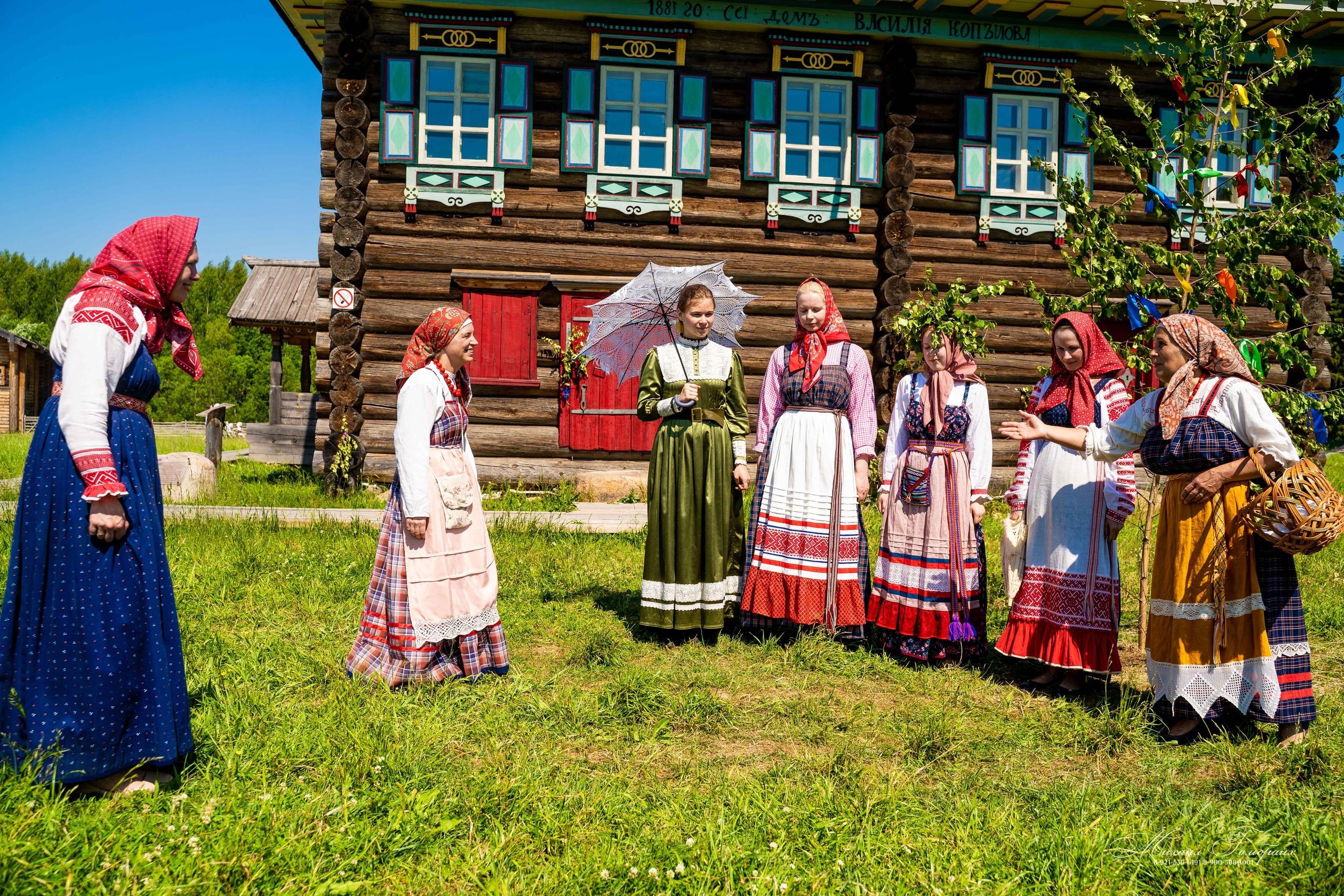 Этнографическая программа «Троицкое гулянье» прошла в «Семенкове» в конце июня.