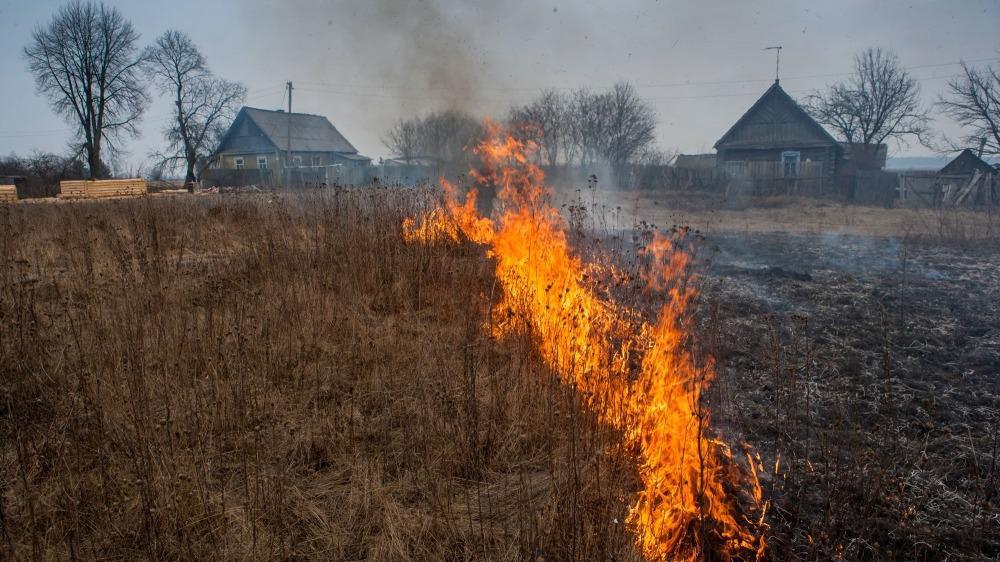 Деревня чуть не сгорела под Череповцом