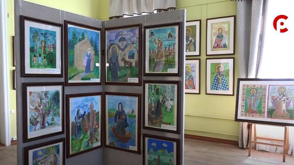 В Великом Устюге представили выставку детских работ, посвященную святителю Стефану Пермскому