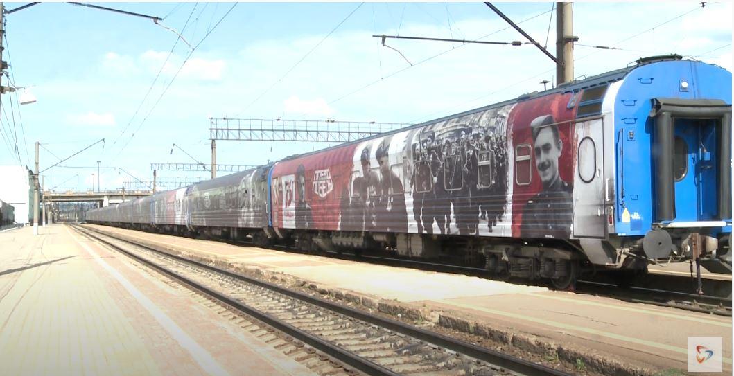 Поезд Победы прибыл в Череповец накануне
