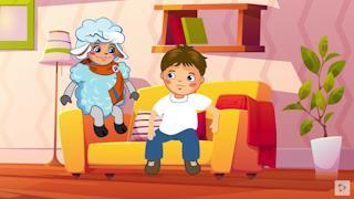 Маленькая овечка рассказывает, как можно подружиться или почему надо просить прощения