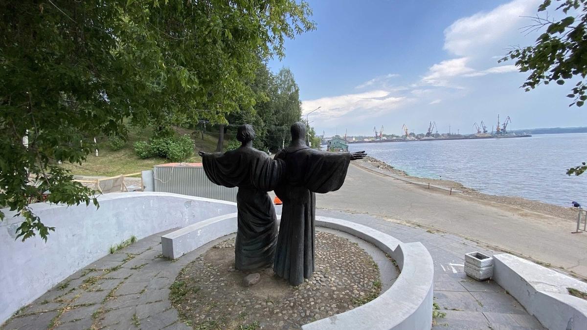 Реконструкция набережной в районе Соборной горки началась в Череповце