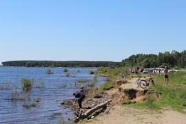 Уровень воды в Рыбинском водохранилище по сравнению с прошлым годом ниже