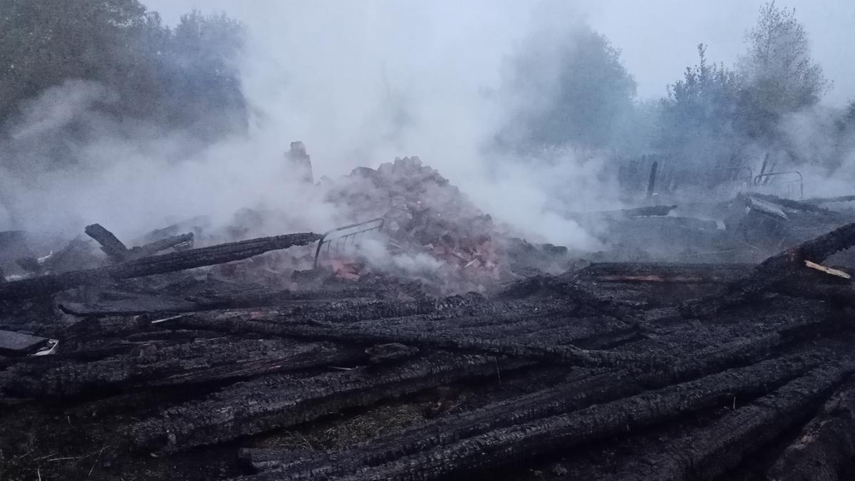 Женщина погибла при пожаре в доме под Вологдой