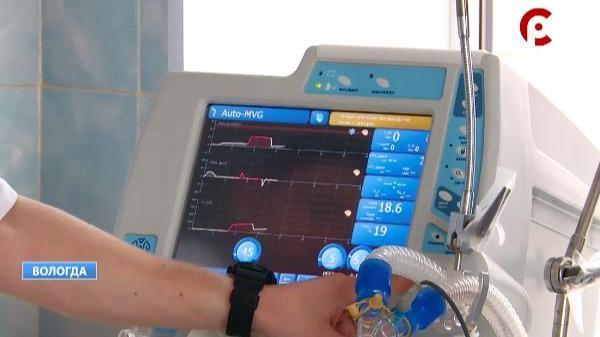 Три новых аппарата искусственной вентиляции легких поступили в Вологодскую областную клиническую больницу