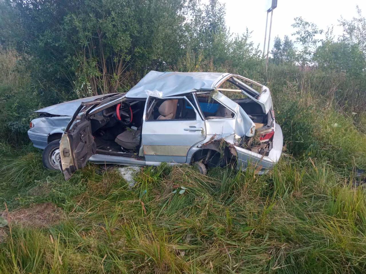 Пьяный водитель на ВАЗе вылетел в кювет