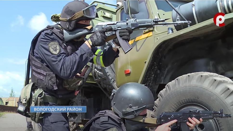 Обезвредили условных террористов и спасли мирных жителей: масштабные учения Росгвардии прошли в Вологодском районе