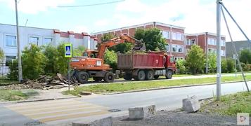 В программу по ремонту тротуаров в первую очередь вошли участки вблизи школ и детских садов