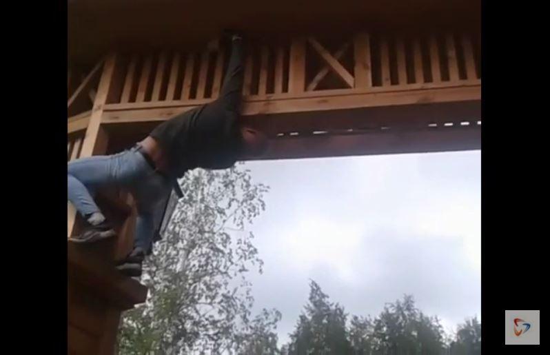 Нарушитель заснял свой «подвиг» на видеокамеру и выложил ролик в социальные сети