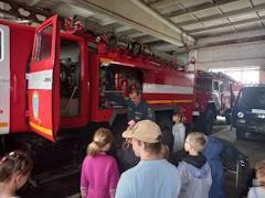 Школьникам рассказали, как вести себя при пожаре