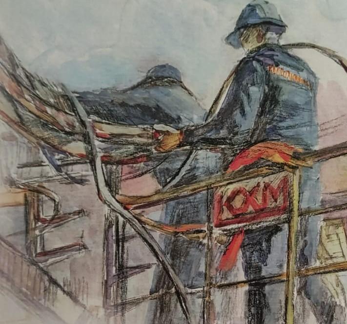 Работа электромонтажника была представлена на всероссийской выставке индустриальных картин