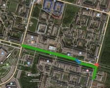 Схема движения транспорта по Шекснинскому проспекту
