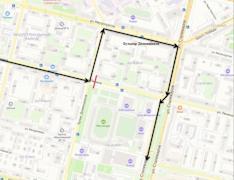 Схема движения маршрута №27 (обратное направление)