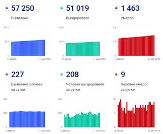 Статистика по коронавирусу на 11 августа