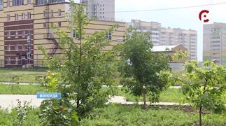 В сквере на пересечении Архангельской и Конева отремонтировали пешеходные дорожки, засеяли газоны