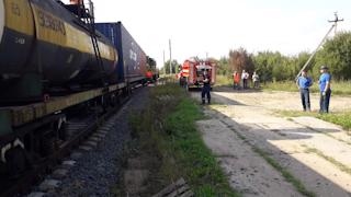 Утечка произошла на железнодорожной станции Вохтога