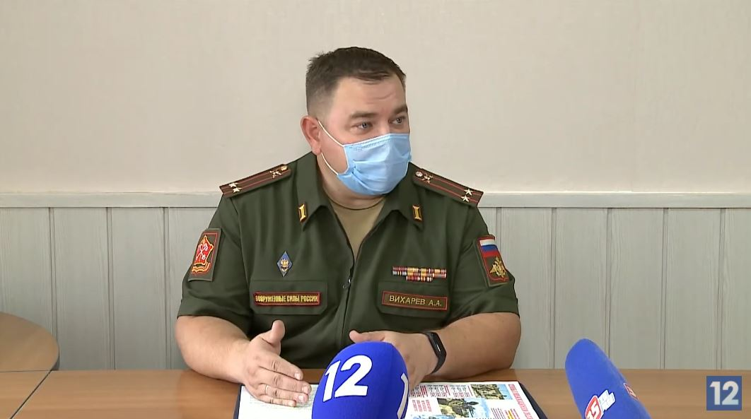 Алексей Вихарев, врио военного комиссара Череповца и Череповецкого района