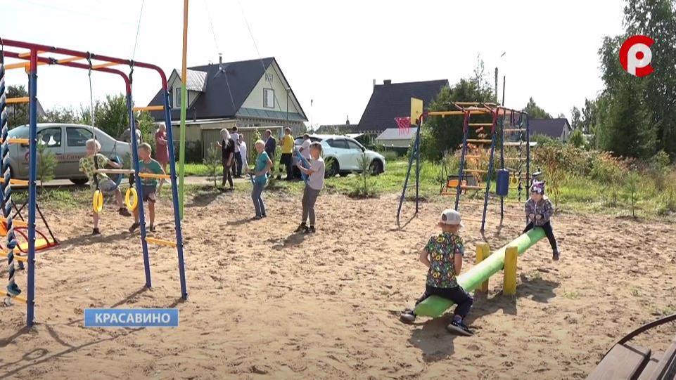 Новая детская площадка появилась в Красавине Великоустюгского района
