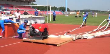 На подготовку оборудования у спортсменов всего несколько минут