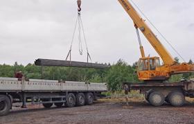 8 тонн металлопроката для проведения запланированных в этом сезоне работ на храмовом острове