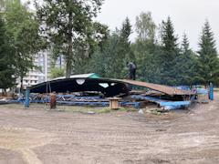 Демонтаж автодрома будет закончен к концу недели. На его месте планируется построить новый