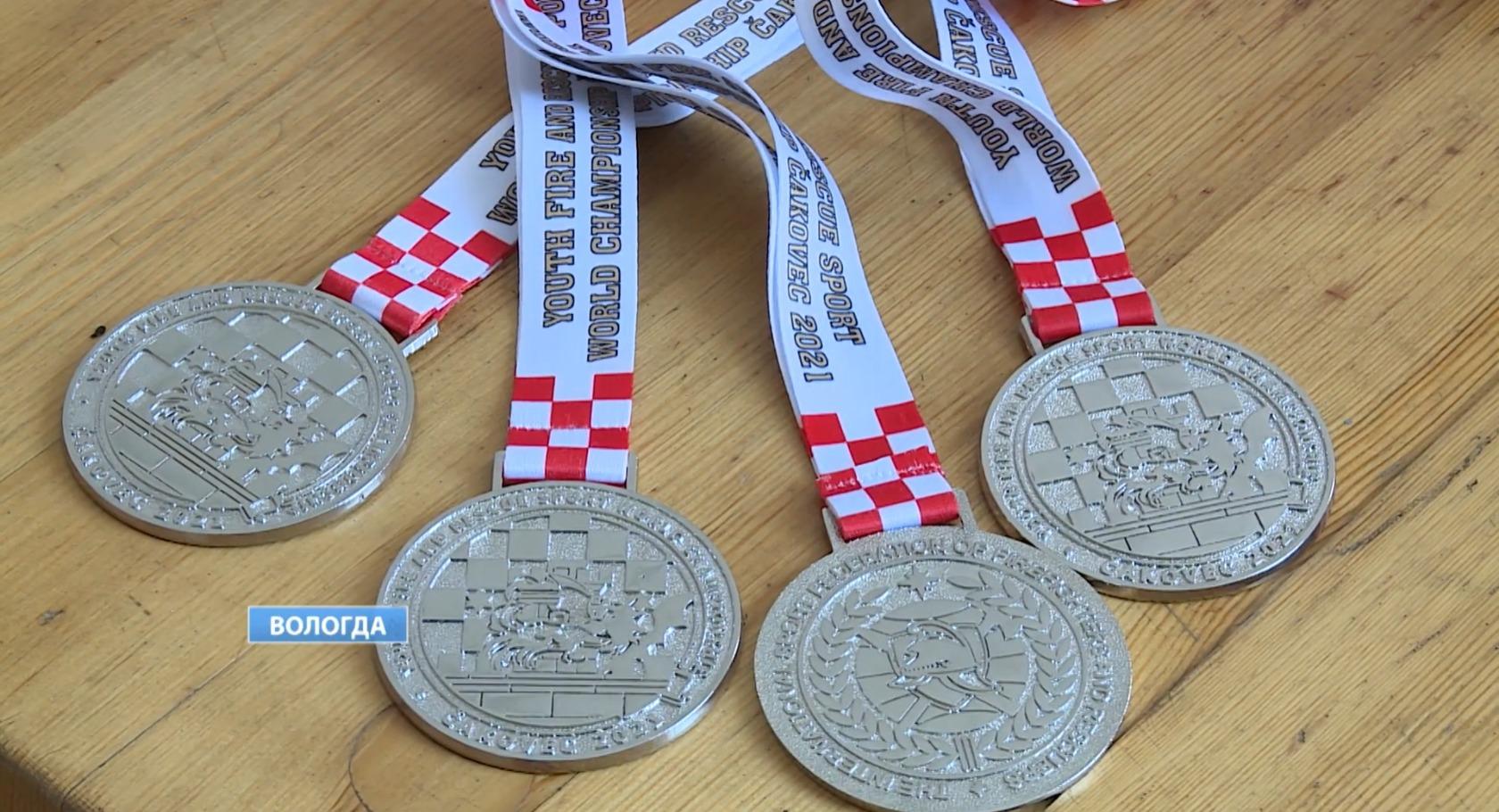 Дарья привезла на родину четыре серебряных медали