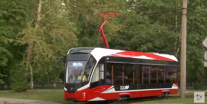 Новый трамвай сегодня прокатился по городским улицам