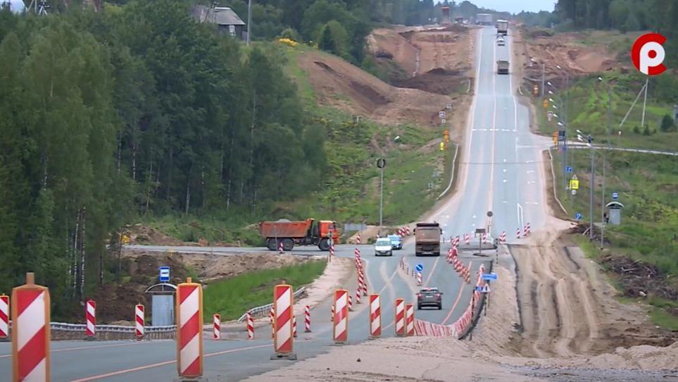 Полосу отвода начали обустраивать вдоль трассы А-114 на участке от Шексны до череповецкого аэропорта