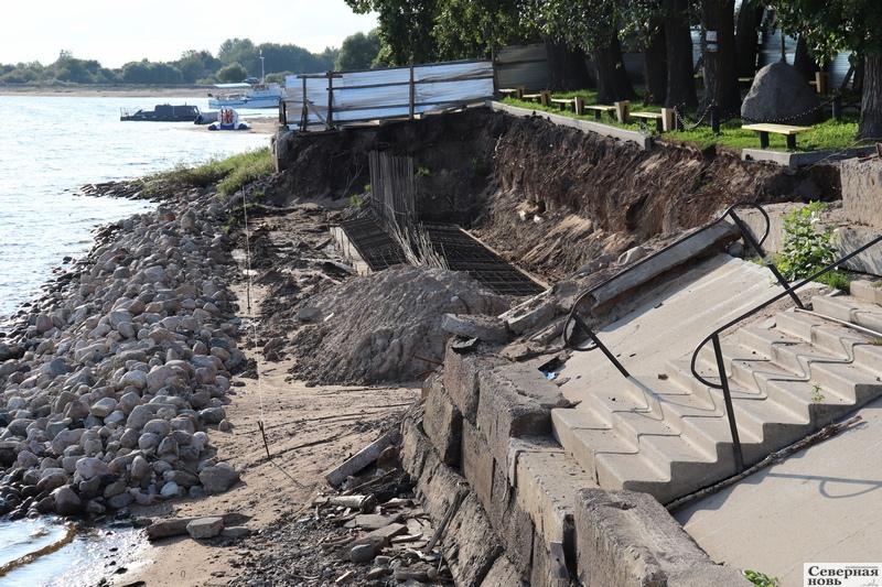 В порядок приводят участок центральной набережной длиной 44 метра
