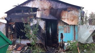 Человеческие останки нашли в сгоревшем в Череповце гараже