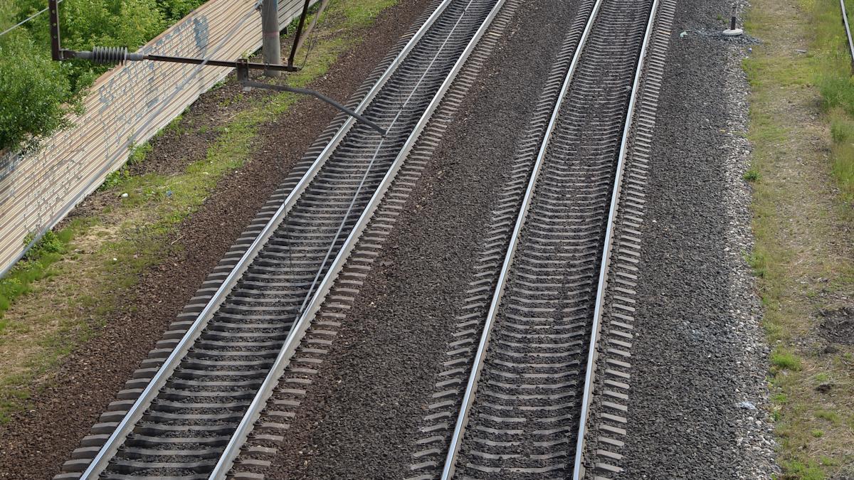 Пошли на железную дорогу «смотреть на поезда»