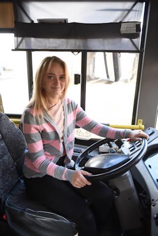 Кристина Световидова выйдет самостоятельно работать на маршрут автобуса № 7 в сентябре.