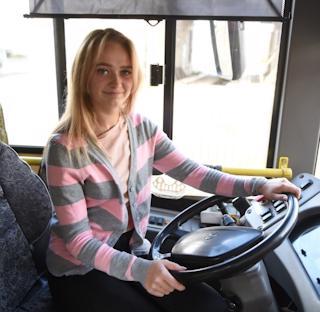 Кристина Световидова выйдет самостоятельно работать на маршрут автобуса №7 в сентябре