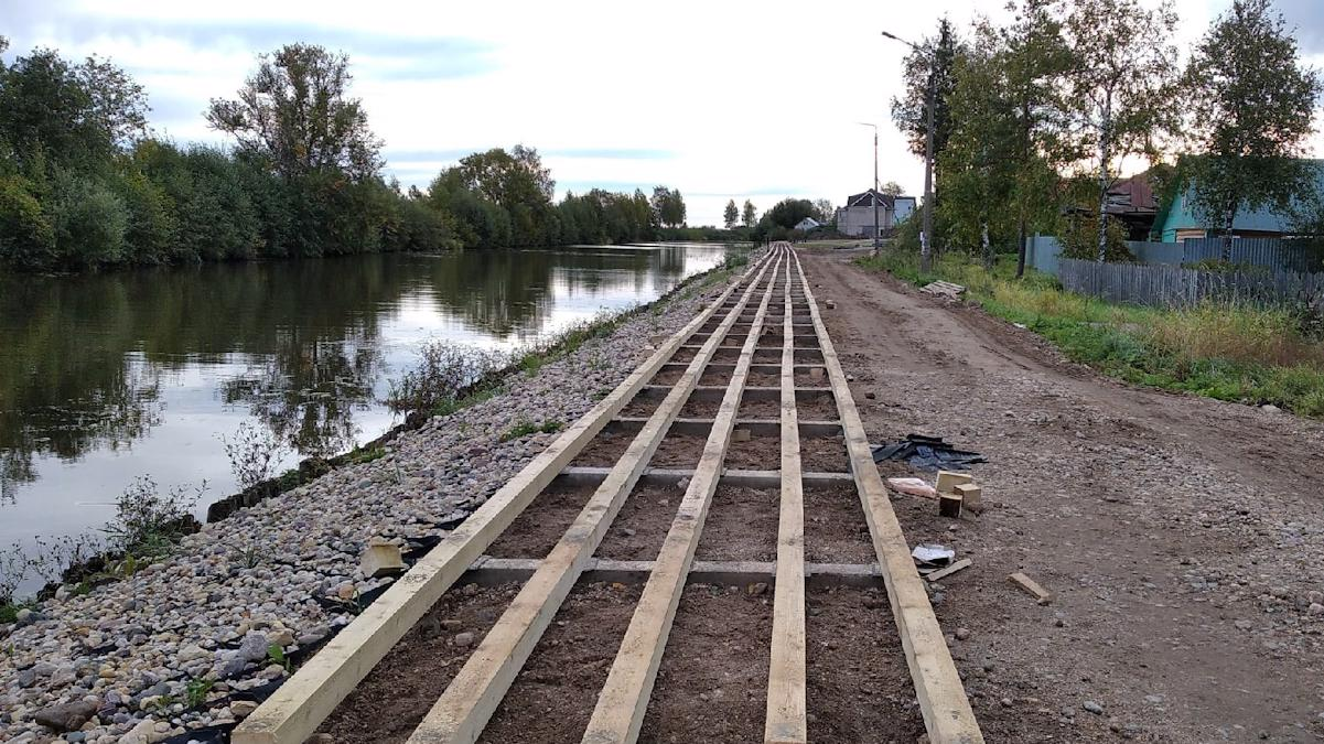 К новому этапу реконструкции набережной приступили в Белозерске