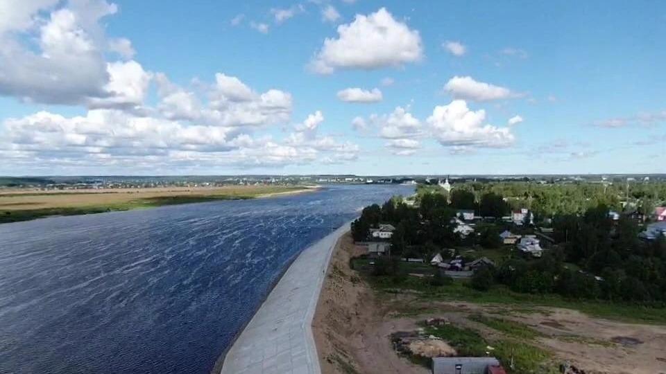 275 миллионов рублей дополнительно выделили на завершение строительства дамбы в Великом Устюге