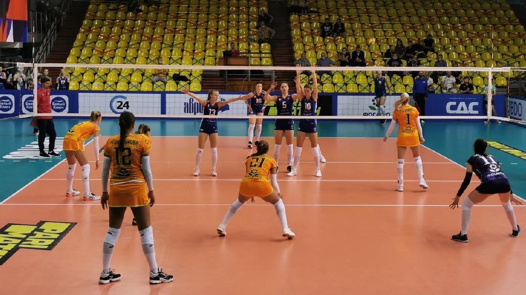 Череповецкие волейболистки стартовали в Кубке России