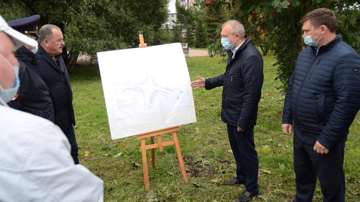 Схему организации кольцевого движения на ул. Конева на время реконструкции представили вологжанам