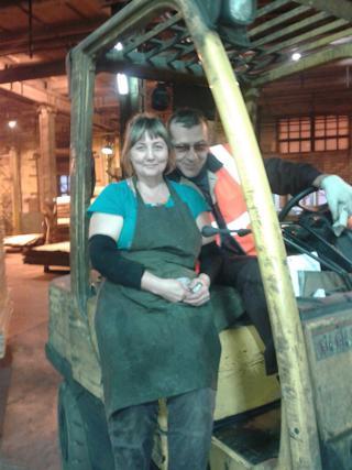 Ольга и Андрей Башмаковы познакомились на комбинате и по сей день работают в одном цехе.