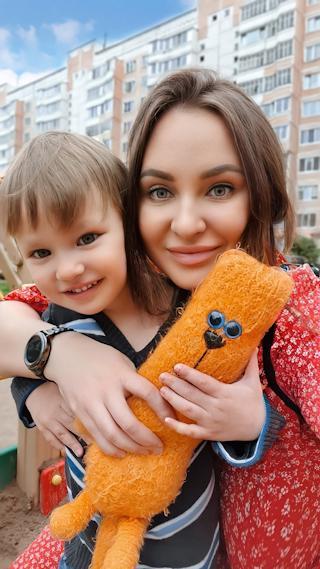 Вероника Супрун с сыном Данилом.