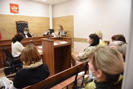 Заседание в Череповецком городском суде.